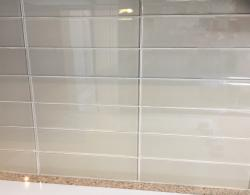 Subway tiles in reflective glass