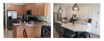 The Queensway, Barrie Kitchen Renovation