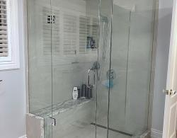 Custom glass shower enclosure, Kestle Interiors Bathroom Renovation