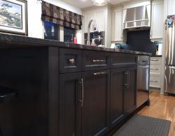 Stained Maple Kitchen Island Design Holland Landing
