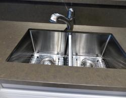 Caesarstone Lagos Blue counter top, Stainless steel undermount sink