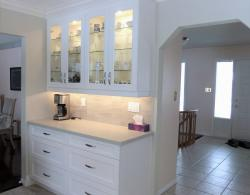 Clear Glass Front, Kitchen Cabinets Sharon; Kestle Interiors Design Newmarket