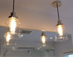Pendant lights create additional lighting.  All electrical items supplied & installed by Custom Home Electronics, Newmarket