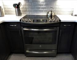 Stainless-steel slide-in electric range